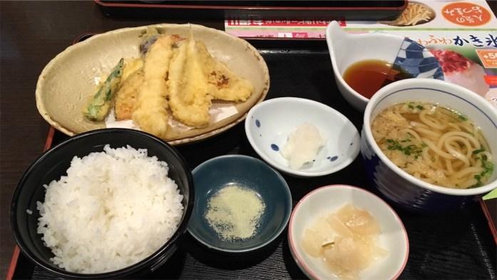 天ぷら食べ放題 最初のセット