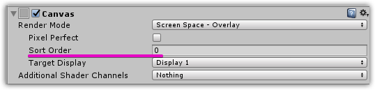 Unity】 uGUI(Screen Space – Overlay)の前にparticleを表示させる方法