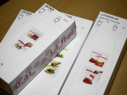 IKEAのジッパー付きポリ袋