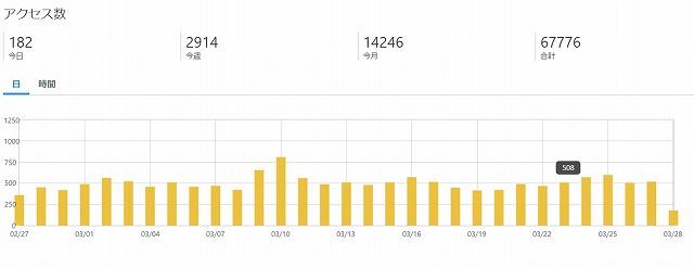 ブログ11ヶ月目PV数
