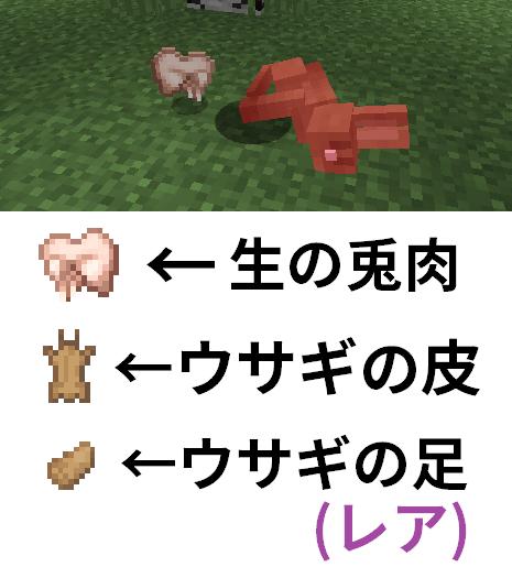 ウサギのドロップアイテム