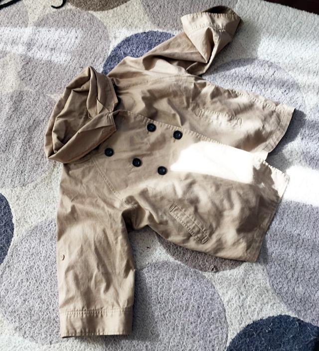 代表的な例:トレンチコートを買いに行ったはずが一目ぼれして衝動買いしたポンチョかコートかよく分からない上着(しわになりやすい)