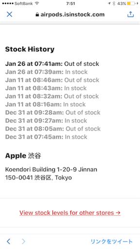 AirPodsは、渋谷は2分で売り切れ・・・。
