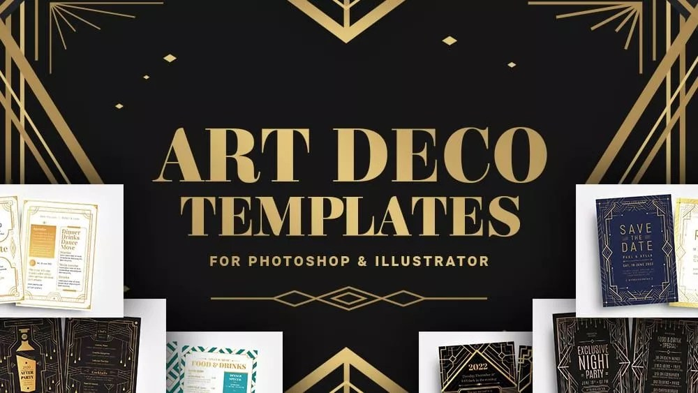 Photoshop has been the model against which other paint programs are compared. The 14 Best Art Deco Templates Photoshop Illustrator Brandpacks