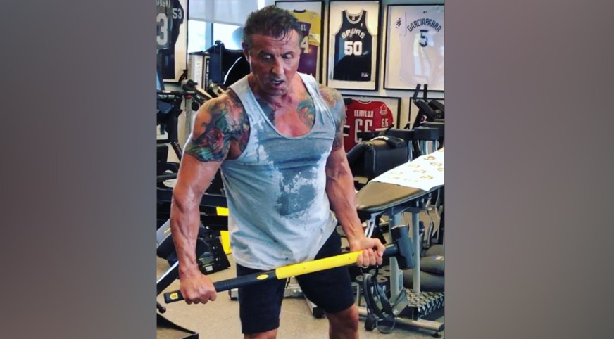 Sly Stallone's Physique Defies Age During Training for ...