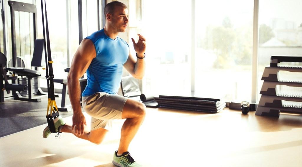 Man Performing TRX Exercise