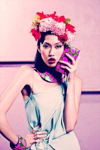 Fashion makeup and hair styling service for catalog shooting for Susanna Valerio