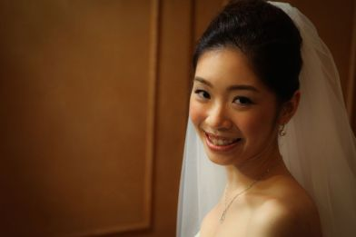 Kalamakeup for bride Alice's wedding at Grand Hyatt, H.K.