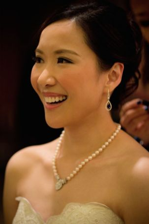 Kalamakeup for bride Michelle's wedding at Four Season Hotel, H.K.