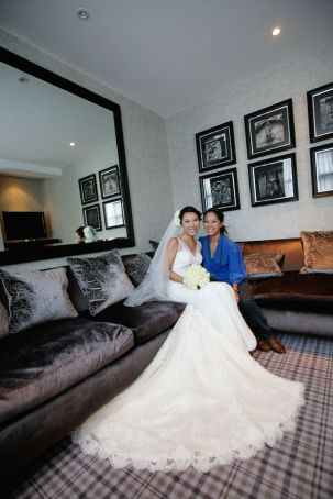 Kalamakeup for bride Rachael's wedding at Dragon I Hotel, New Castle, U.K.