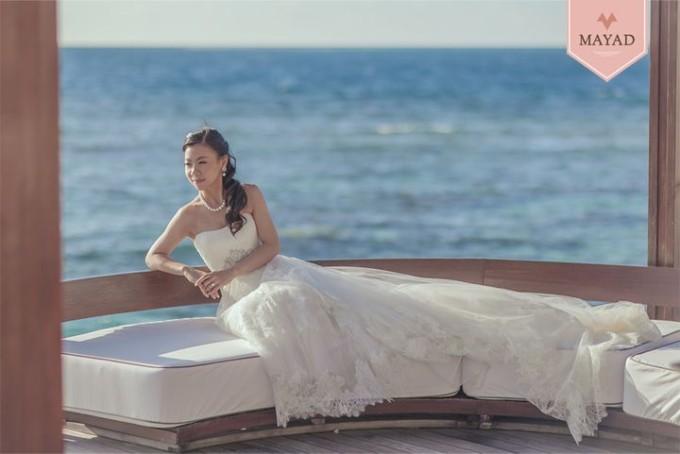 Kalamakeup for bride Regina's wedding at W hotel, Maldives