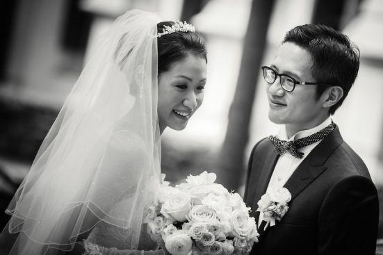 Kalamakeup for bride Yija's wedding at Intercontinental Hotel, H.K.
