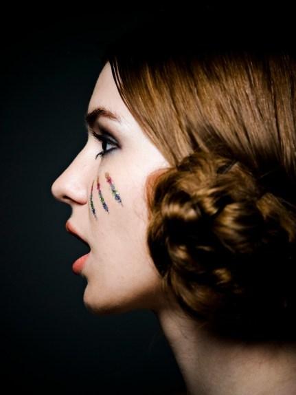 Kalamakeup creative colorful stripes makeup