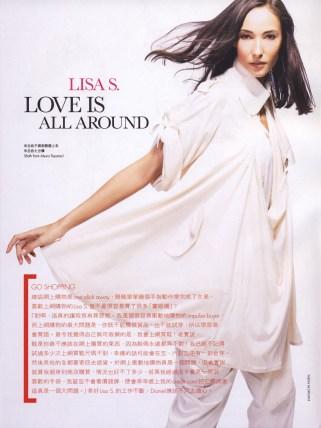 Makeup for Lisa S for Elle Magazine, Hong Kong