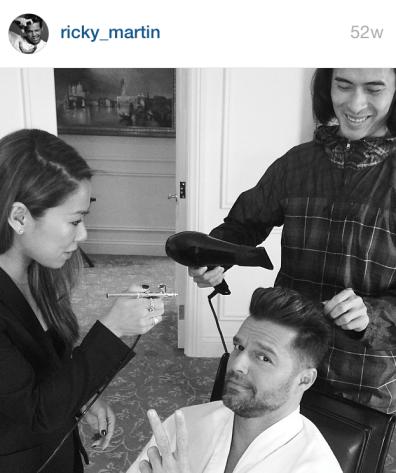Ricky Martin airbrush makeup