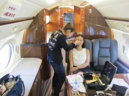 Kalamakeup makeup and hair styling for HK Jets shoot