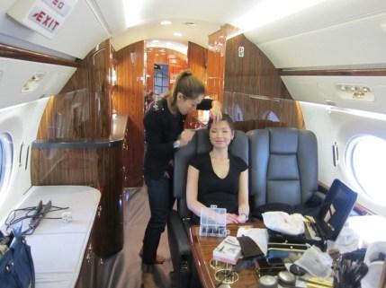 Kalamakeup makeup and hair styling for HK Jets shoots