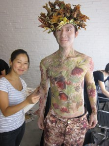 Kalamakeup body painting for Iniital