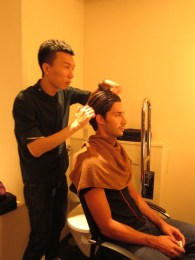 Kalamakeup makeup & hair styling for fashion shows for Zegna