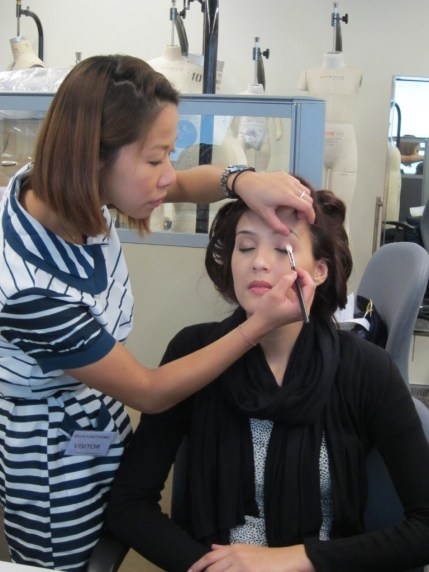 Kalamakeup makeup & hair styling for fashion shows for Shanghai Tang