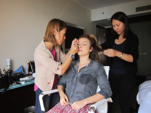 Kalamakeup makeup & hair styling for Russian Red, Sony Music singer