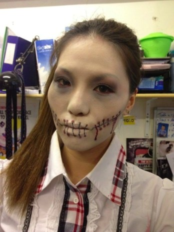Kalamakeup body painting for Halloween