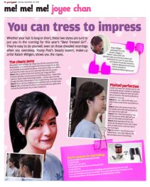 SCMP Sunday Young Post makeup demo by Kalam - You can tress to impress