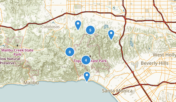 Angeles Map Los Brentwood