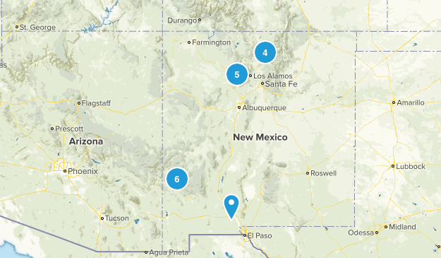 Mexico Map New Springs Hot