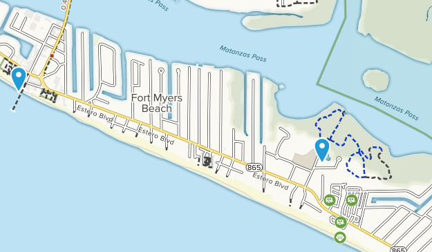 Fort Myers Beach Florida Map.Fort Myers Florida Map Cities And Beaches