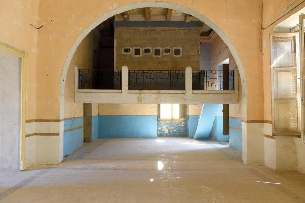 The concrete bricks forming the projection room will be removed but the actual concrete gallery will be retained.