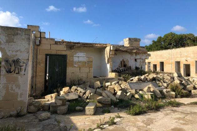 The dilapidated site as it stands today. Photo: Corinthia Hotels