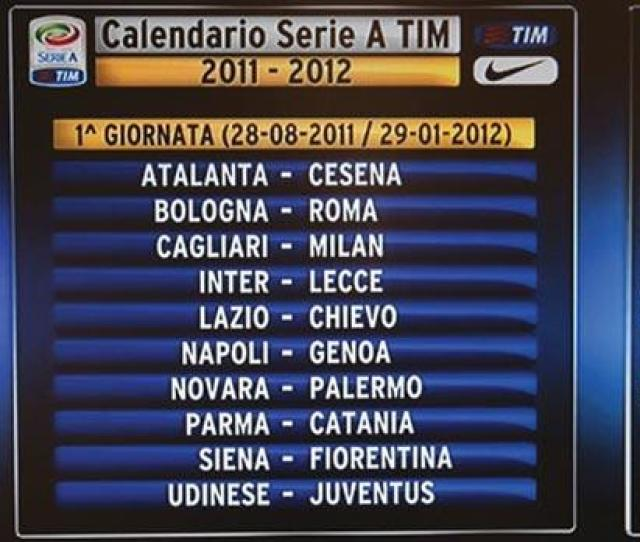 The First Match Day Of The Current Italian Serie A Football Season