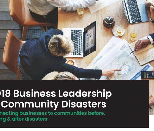 Business Leadership In Community Disasters Workshop  Nov At Melbourne Melbourne