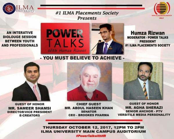 Power Talk at Ilma University, Karachi