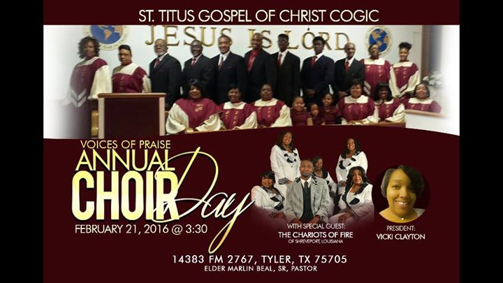 Vop Annual Choir Day At St Titus Church Of God In Christ