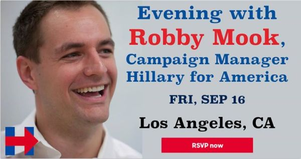 Evening with Robby Mook, Hillary for America (Los Angeles ...