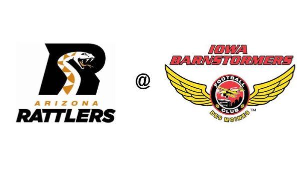 Image result for Arizona Rattlers vs Iowa Barnstormers