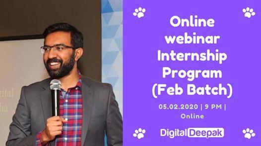 Image result for digital deepak free internship webinar