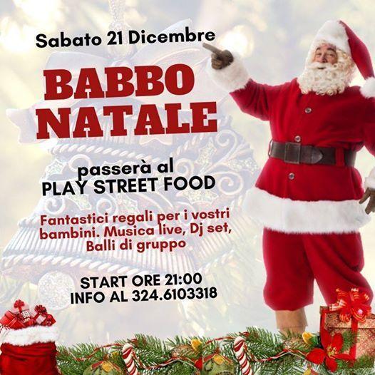 È una neve speciale lo sai? Babbo Natale Al Play Street Food Play Street Food Bari December 21 To December 22 Allevents In