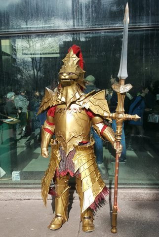 This Dark Souls Dragon Slayer Ornstein Costume Is All