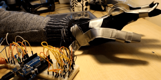 Gesture Glove with Duct Tape
