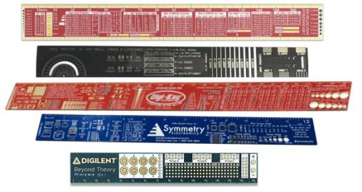 Assorted PCB Rulers