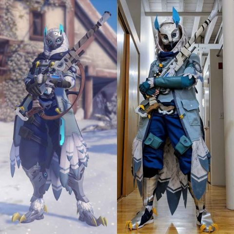 Cool Down With An Overwatch Ana Snow Owl Skin Cosplay