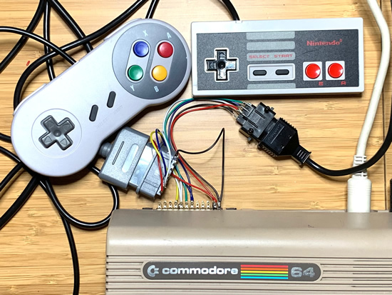 NES and SNES controllers