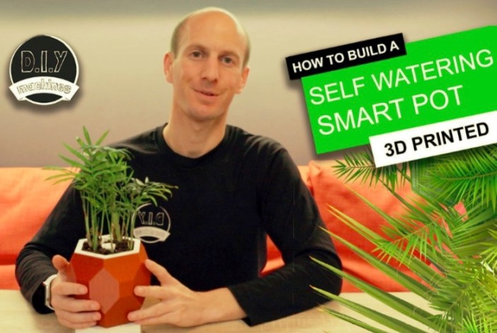 Automatic Smart Plant Pot DIY 3D Printed Arduino Self Watering Project by DIY Machines Thingiverse