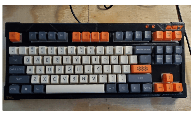 The2187 A Modular Modern 87 Key Mechanical Keyboard by revere521 Thingiverse