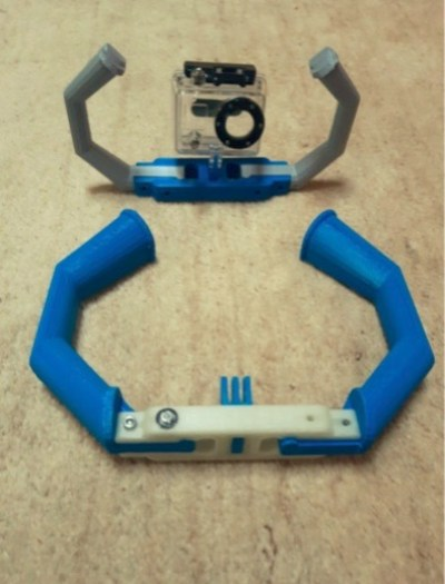 GoPro support for Scuba by frapicchi Thingiverse