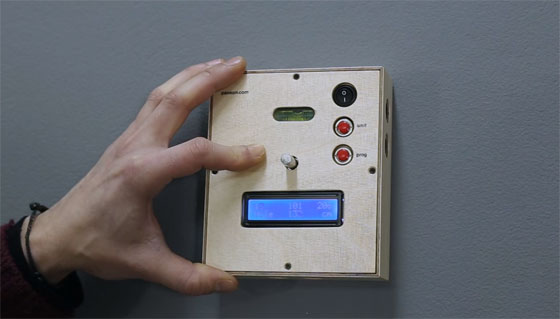 Medidor de distancia con referencia central hecho con Arduino