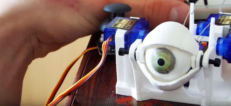 Cómo hacer un ojo animatrónico controlado con Arduino